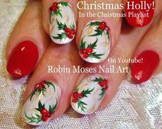 Nail Art Tutorial | DIY Nail Art for Christmas | Holly Nail Design