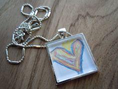 kids' art necklace