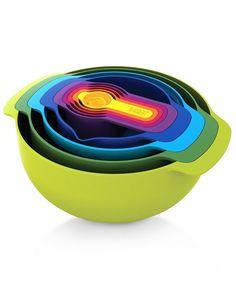 $49.99 Joseph Joseph Mixing Bowls, Set of 9 Nesting - Kitchen Gadgets - Kitchen - Macy's