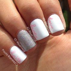 Breast Cancer Awareness by just1nail #nail #nails #nailart