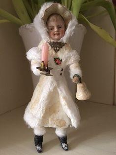 Wattefigur mit Porzellankopf,JDL,Shabby,Weihnachten,handmade,21cm | eBay