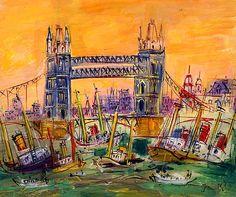 Jean Dufy Tower Bridge in London
