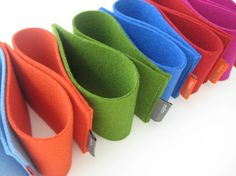 Coffee Cup Sleeves. TWO. pure wool felt. cup holder. cup sleeve. cup cozy. eco-friendly. blue. green, red. orange. felt accessory by mlmxoxo
