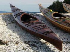 Beautiful wood kayak