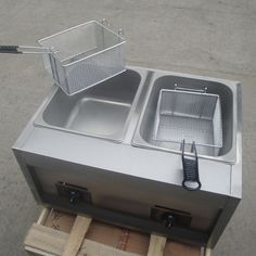chinacoal03 4.HF-8 220~240V Gas Double Cylinder French Fries Frying Machine  Keywords: frying machine , kfc chicken frying machine , potato chips frying machine , fries frying machine , french fries frying machine  HF-8 220~240V Gas Double Cylinder French Fries Frying Machine Introduction Features and advantages 1.There are single-fryer and double fryer two types and different size in each type. 2.Oil temperatures can be controlled from 60 to 200 and is equipped with a 240    over-heating…