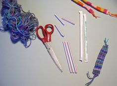 Bracelet/Bookmark Straw Weaving