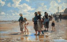 John Singer Sargent, En route pour la pêche (Setting Out to Fish), 1878, oil on canvas, National Gallery of Art, Corcoran Collection