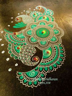 Below we have gathered some of the best Rangoli designs and ideas Diwali and ideas to inspire you. Rangoli designs for Diwali 2017 Rangoli Designs Latest, Rangoli Designs Flower, Colorful Rangoli Designs, Rangoli Designs Diwali, Diwali Rangoli, Rangoli Designs Images, Flower Rangoli, Beautiful Rangoli Designs, Rangoli 2017