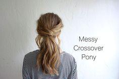 hair tutorial: messy crossover pony | truelane | Bloglovin'