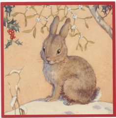 Margaret tarrant snow bunny christmas card