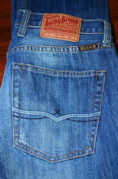 EUC WOMEN'S LUCKY BRAND DUNGAREES JEANS by Gene Montesano SIZE 30
