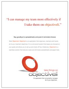 I can manage my teams more effectively if I take them on objectiveli.