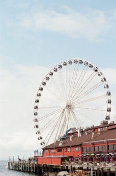 Seattle, Washington, ferris wheel.  Samantha Brooke Photography