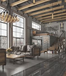 Here are 40 of our best picks for most beautiful loft living spaces! Read what is a loft apartment and loft style. Get ideas for your loft homes. Loft Estilo Industrial, Industrial Living, Industrial Interiors, Industrial Lamps, Industrial Bedroom, Kitchen Industrial, Modern Interiors, Industrial Loft Apartment, Industrial Furniture