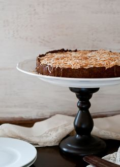 Recipe For Vegan, Gluten-Free Black-Bottom Coconut Cream Tart