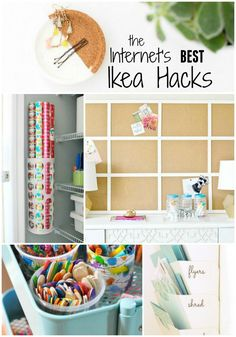 The BEST Ikea organization hacks on the web to solve all your household clutter problems! Save money with Ikea and a little DIY!