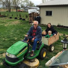 Tractor rides with Grandpa! #countryvacation #latergram