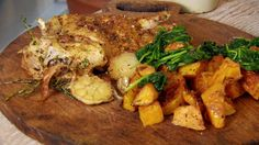 Spice Trip - Articles - Nutmeg Roast Chicken with Squash and Spinach Recipe - Channel 4 Recipe Using Chicken, Roast Chicken Recipes, Baked Chicken, Dinner Party Main Course, Chicken Squash, Roast Pumpkin, Spinach Recipes, Yum Yum Chicken, Food For Thought