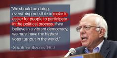 On National Voter Registration Day we should be doing everything possible to make it easier for people to vote.
