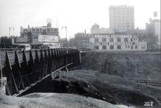 Jersey City history: Old Journal Square Hudson Blvd Bridge Jersey City, New Jersey, Genealogy, 1920s, Mythology, New York Skyline, Bridge, Journal, Seasons