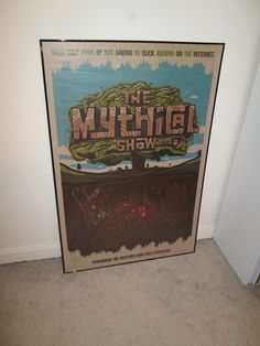 My awesome signed Rhett and Link poster! Rhett and Link actually touched this! :)