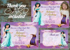 Printable Jasmine Birthday Invitations ~ Jasmine birthday party printable set jasmine printable party
