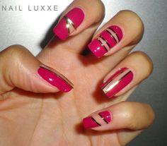 Pink-and-Gold-Nail-Design