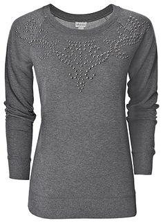 Embellished sweatshirt tunic