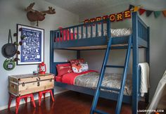 One mom wanted to design a bedroom that suited her son's adventurous spirit. But she also wanted the room to grow older with him. The result is a camping theme that will hit you with a serious wave of nostalgia.