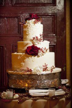 Christmas wedding cake....