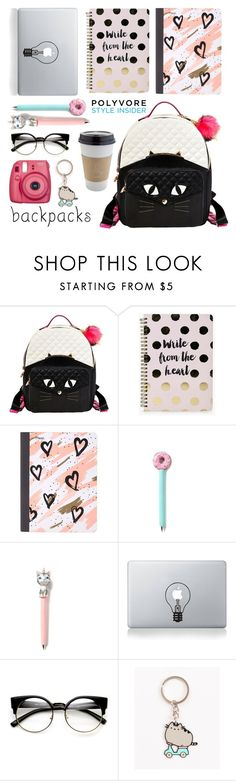"""""""#424"""" by smiljana-s ❤ liked on Polyvore featuring Betsey Johnson, Boohoo, Mead, Vinyl Revolution, OUTRAGE, ZeroUV, Pusheen and Fujifilm"""