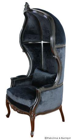Victoire Balloon Chair - Black