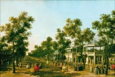 Canaletto, Vauxhall Gardens, The Grove and Grand Walk, oil on canvas, c. Grand Canal, Rococo, Artist Canvas, Canvas Art, Rio Tamesis, Compton Verney, The Pleasure Garden, Renaissance, Westminster