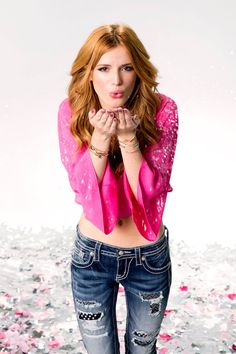 """Bella Thorne for """"Miss Me"""" jeans Girl Celebrities, Hollywood Celebrities, Beautiful Celebrities, Celebs, Beautiful Ladies, Bella Thorne And Zendaya, Bella Throne, Famous In Love, Redhead Girl"""