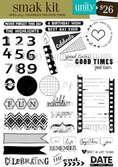 Unity Stamp Co. - SMAK Kit - April 2013 - {Celebrate the Good Times} http://unitystampco.com/shop/smak-kit/