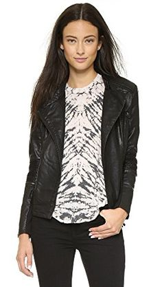 Blank Denim Women's Vegan Moto Jacket * Read more reviews of the product by visiting the link on the image.