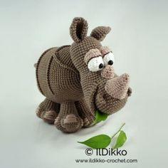Ronald the Rhinoceros amigurumi pattern by IlDikko