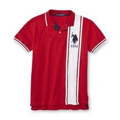U.S. Polo Assn. Men's Slim-Fit Polo Shirt - Striped