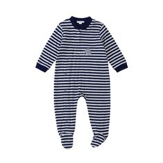 50% off everything at Happyology | Stripe Cotton Jersey Sleepsuit