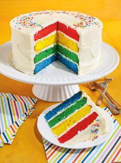 Gâteau multicolore #cake #kids #multicolor #sweet