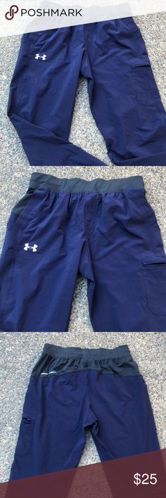 "UNDER ARMOUR SWEAT PANTS Beautiful navy sweat pants. In excellent condition. Length: 41.5"" Hips: 45"" PRICE FIRM Under Armour Pants Track Pants & Joggers"
