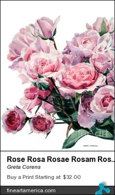Greta's floral and water color work provide   insight and inspiration into the world or fine art mastery using water color.