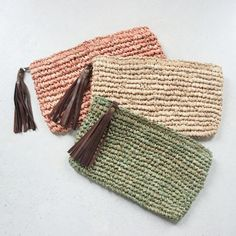 Straw PursePurseClutch by MOOSSHOP
