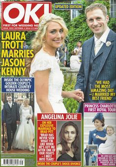 Laura Trott Jason Kenny S Wedding On The Front Of Ok Wore Our Beautiful Naomi Neoh Fleur Dress