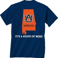 S/S Auburn State of Mind China Blue tee