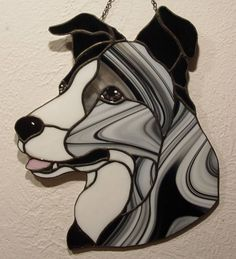 Border Collie stained glass - my design
