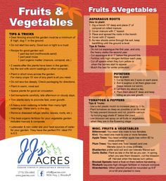 Tips & Tricks: Fruits and Vegetables