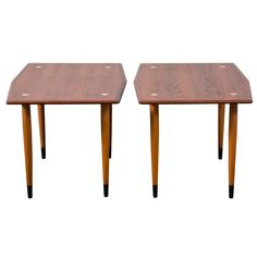 Pair of Vintage Side Tables by DUX