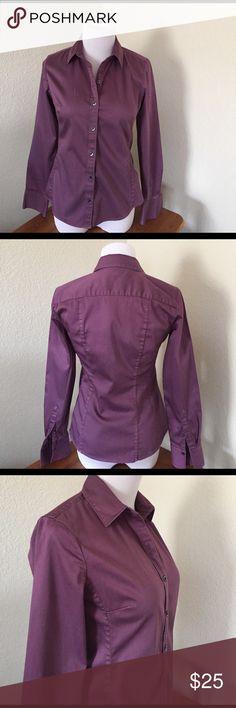 Banana Republic fitted stretch size XS shirt Beautiful purple button down shirt. Banana Republic fitted stretch size XS.  In good used condition Banana Republic Tops Button Down Shirts