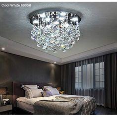 LED NEW Modern Clear Crystal Ceiling Light Pendant Lamp Chandelier Lighting. Home Lighting Lamp Ideas For Living Room, Dining Room, Bedroom, etc.